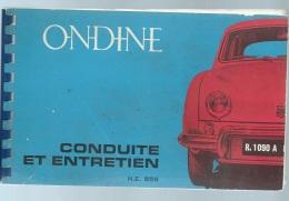 Renault - Ondine , Conduite Et Entretien ,  56 Pages - Modb138 - Auto