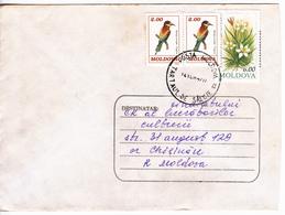 1997 , MOLDOVA , MOLDAVIE ,  MOLDAWIEN ,  MOLDAU , Birds , Flowers , Used Cover - Moldova