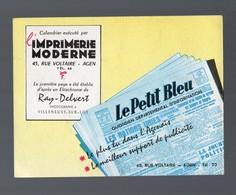 Agen (47 Lot Et Garonne)  Calendrier 1957 LE PETIT BLEU (PPP14640) - Calendars