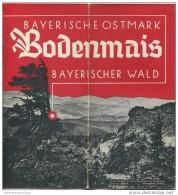 Bodenmais 1936 - 8 Seiten Mit 12 Abbildungen - Beiliegend Wohn- Und Gaststätten-Verzeichnis - Reiseprospekte
