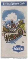 Ramsau-Hintersee - Schellenberg 1935 - Faltblatt Mit 7 Abbildungen - Illustrationen Fritz Richter - Beiliegend Wohnungsv - Reiseprospekte