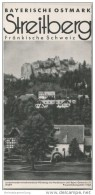 Streitberg 1938 - Faltblatt Mit 6 Abbildungen - Beiliegend Wohnungsliste - Reiseprospekte