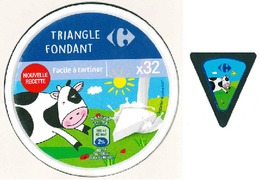Top Box - Etiquettes Fromage - Cheese Label - CARREFOUR - Quesos