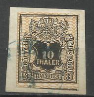 9086-ALEMANIA SELLO ESTADO HANOVRE HANNOVER AÑO 1856 Nº13.VALOR 100,00€ 4 MARGENES.lujo Luxe. HANNOVER Hanover ALEMANIA - Hanover