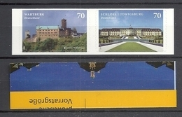 Deutschland / Germany / Allemagne 2017 3311/12 ** Wartburg/Schloss Ludwigsburg  Selbstklebend Self-adhesive (11.05.17) - Unused Stamps