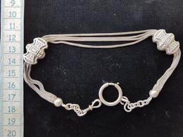 Ancienne Chaine De Montre En Argent 19 Eme - Jewels & Clocks