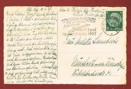 """Slogan """"Deutsche Luftpost über Den Südatlantik"""" Postkarte 1937 - Post"""