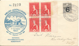 Denmark Cover Köbenhavn 9-3-1941 National Stamp Exhibition With RED CROSS Stamps And Cachet - 1913-47 (Christian X)