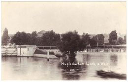 Mapledurham Lock & Weir Real Photo Unused - England