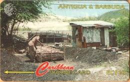 Antigua & Barbuda - GPT, ANT-97C, 97CATC, Charcoal Burning, 45,000ex, 1996, Used As Scan - Antigua And Barbuda