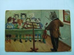 Poezen Katten Cats Chats Katzen Thiele ? Choir Choeur - Geklede Dieren