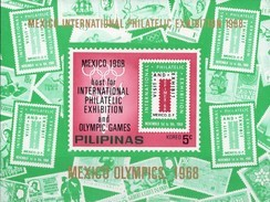 Olympia Mexiko 1968 Philippinen Block III ** 15€ Stamps Of Stamp EXPO Ms Philatelic Bloc Olympic Sheet Bf Pilipinas - Summer 1968: Mexico City