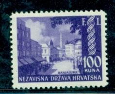 Kroatien 1941 Landschaften 100 Kuna Michel 65 Postfrisch MNH - Croazia