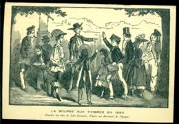 """France 1941 Carte Postale """"La Bourse Aux Timbres"""" Avec Yv 413 Marque Exposition Philatelique Paris - France"""