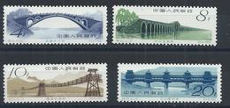 1962 CHINA BRIDGES OF ANCIENT TIMES S60 COMPLETE SET O.G. MNH MI CV €80 - 1949 - ... République Populaire