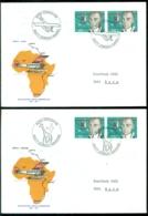 Schweiz 1977 Umschläge (4) 50 Jahre Erstflüge Nach Kairo, Nairobi, Gao Und Kapstadt - Posta Aerea