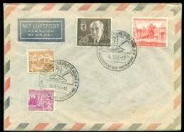 """Deutsche Bundespost Berlin 1954 Luftpostbrief Mit Spezial Stempel """"Berlin Charlottenburg"""" Keine Adresse - Lettres & Documents"""