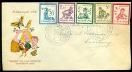 Nederland 1950 FDC Kinderzegels Met Adres E4 - FDC