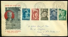 Nederland 1951 FDC Kinderzegels Met Adres E5 - FDC