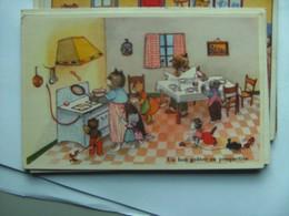 Poezen Katten Cats Chats Katzen Un Bon Gouter En Perspective - Geklede Dieren
