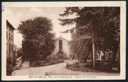Bourg-saint-Andéol - Place De La République - Eglise St-Polycarpe - ERA - Voir 2 Scans - Bourg-Saint-Andéol