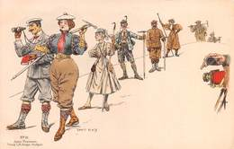"0286 ""ERNEST PLATZ-ILLUZTRATORE E ALPINISTA TEDESCO 1867/1940-ALPINISTI- UMOR"" ANIMATA.  CART NON SPED - Humour"