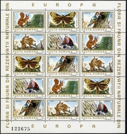 ROMANIA  1983 Flora And Fauna Of Nature Reserves In Europe Sheet, MNH, OG - Blocs-feuillets