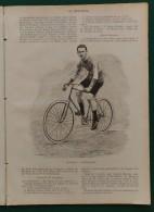 1897 Journal LA BICYCLETTE - CASSIGNARD - MEDINGER - STEPHANE - L'INDUSTRIE VÉLOCIPÉDIQUE - LA VIOLETTE A BICYCLETTE - Journaux - Quotidiens