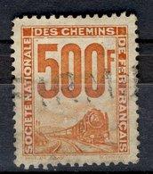France 1957 - Oblitéré Used Y&T N° ??  Société Nationale Des Chemins De Fer Français 500f - France