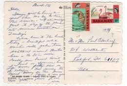 Stamps , Timbres Yvert N° 306 , 311 Sur Carte , Postcard De 1979 - Bahamas (1973-...)