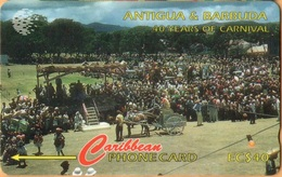 Antigua & Barbuda - GPT, ANT-181H, 181CATH, 40 Years Carnival, 15,000ex, 1997, Used As Scan - Antigua And Barbuda