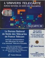 F352B 530 TÉLÉCARTE 50 U L'UNIVERS PUCE SC5An EN TGE 93/05  N° 45582    COTE 2013 =30 EUROS - France