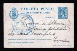1922 - Portofreie Karte  Mit Militärpoststempel Gebraucht - Storia Postale