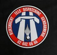 Autocollant Sticker Gendarmerie Rijkswacht Tele Dispatching - Police & Gendarmerie