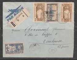 COTE D'IVOIRE LETTRE A DESTINATION DE TOULOUSE CACHET 3 JUILLET 1942 EN RECOMMANDÉE PAR AVION - Côte-d'Ivoire (1892-1944)