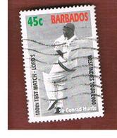 BARBADOS - MI 985  -   2000  CRICKET: SIR C. HUNTE                                  -  USED° - Barbados (1966-...)