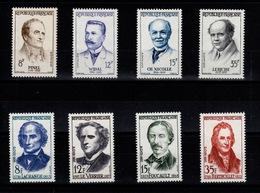 YV 1142 à 1145 & 1146 à 1149 N** Medecins & Savants Cote 13,50 Eur - Unused Stamps