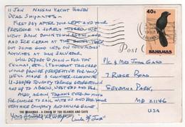 """Stamp , Timbre """"  Oiseau  """" Sur Carte , Postcard De 1992 - Bahamas (1973-...)"""