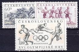 ** Tchécoslovaquie 1956 Mi 981-3 (Yv 855-7 B), (MNH) - Unused Stamps