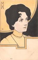"""0303 """"FIGURA FEMMINILE - DECO 1910""""   CART  NON SPED - Cartes Postales"""