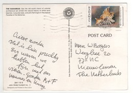 "Stamp , Timbre "" Coquillage  "" Sur Carte , Postcard De 1990 - Bahamas (1973-...)"