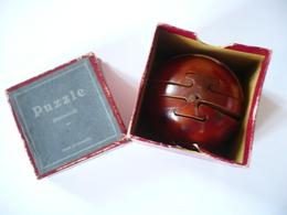 Holzkugel Puzzle In Org. Karton (533) - Antikspielzeug