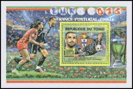 CHAD 2016 MNH** Football European Championship UEFA Dos Santos S/S - OFFICIAL ISSUE - DH1819 - Championnat D'Europe (UEFA)