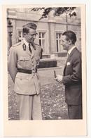 Stan Ockers Bij Koning Boudewijn Na Wereldkampioenschap Te Frascati In 1955. (fotokaart) - Radsport