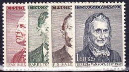 ** Tchécoslovaquie 1957 Mi  998-1001 (Yv 885-8), (MNH) - Unused Stamps