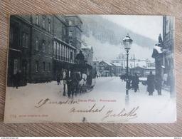 CPA 1902 Davos Platz Promenade, Chevaux Neige Calèche Suisse Grisons Switzerland - GR Grisons