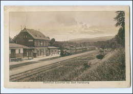 XX01127-3388/ Bahnhof Eckertal Bei Bad Harzburg Mit Eisenbahn Ak 1920 - Non Classificati
