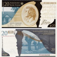 POLAND       20 Zlotych    Comm.     P-181       19.3.2009       UNC  [ WITH FOLDER ] - Polonia