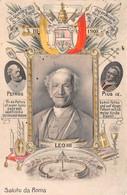 "0308 ""PAPA LEONE XIII - SALUTO DA ROMA""  STEMMA. CART  SPED 1899 - Papes"