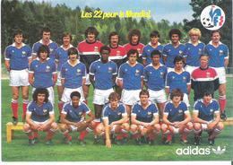 EQUIPE DE FRANCE. CP PUB Adidas Equipe De France Sélectionnée Pour Le Mundial 1982 - Calcio